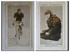 BDV 1933 Vintage Double Sided Card Cycling-Aviation H.Opperman-Bert Hinkler