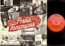 "PRIMA TANZMUSIK trio/cats tv/neon babies/extrabreit/tempo/geisterfahrer 10"" LP"