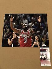 Dwyane Wade Signed 11x14 Photo Chicago Bulls Heat NBA STAR w/ JSA COA
