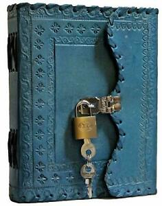 Antique Handmade Leather journal blank Notebook Scrapbook Organizer Memoir Diary