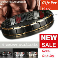 Men Strength  Therapy Bracelet Health Energy Bio Magnetic Male Gift Adjustable