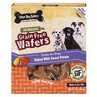 Three Dog Bakery Grain Free Wafers Baked Dog Treats Sweet Potato 13 oz