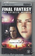 FINAL FANTASY THE SPIRITS WITHIN - UMD video for PSP - NEW in seal