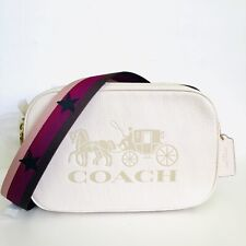 Coach Jes Crossbody Double Zip Purse Horse Carriage Messenger Bag Star NWT $328