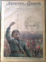 La Domenica del Corriere 13 Ottobre 1935 Discorso Mussolini Max Baer Guerra Duce