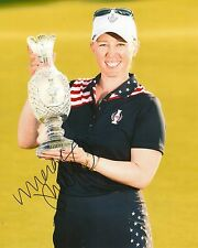 MORGAN PRESSEL signed LPGA 8x10 SOLHEIM CUP TROPHY photo with COA
