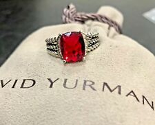 DAVID YURMAN RING PETITE WHEATON GARNET AND DIAMOND SIZE - 8
