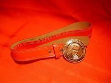 Vintage 1984 Nos New Michael Jackson Red Belt w Buckle by Triumph Merchandising