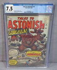 TALES TO ASTONISH #12 (Gorgilla by Jack Kirby) CGC 7.5 VF- Atlas Comics 1960