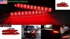 FOR Toyota Lexus Red Lens LED Rear Bumper Reflector add on Tail Brake Stop Light