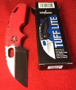 New Cold Steel TUFF LITE Red #20LTR Small EDC Folding Pocket Knife