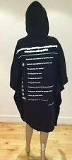 RRP£480 NEW MM6 MAISON MARGIELA BLACK COTTON HOODED PRINTED OVERSIZED DRESS M/10