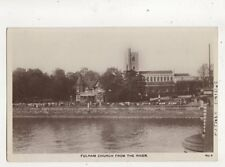 London Fulham From River circa 1915/20 RP Postcard WH Smith Putney 390b