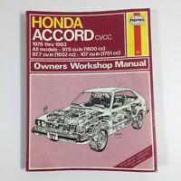 Honda Accord Haynes Repair Manual Book 1976 - 1983 / Service Shop Car Truck