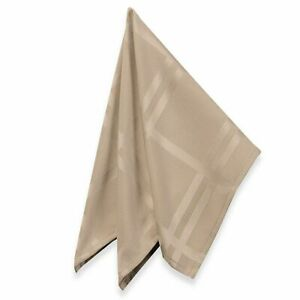 Origins Fabric Napkins 19x19 Set of 4 Beige Tan Taupe Bardwil Linens Easy Care
