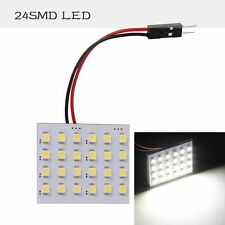 12V Panel 24SMD Car Interior LED White Map Dome Light Lamp Super Universal GB