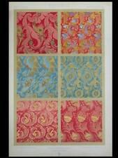 SOIERIES CHINOISES 17e - LITHOGRAPHIE 1877 DUPONT-AUBERVILLE, LYON, VENISE