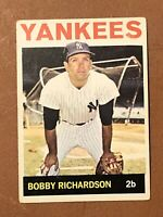 1964 Topps Bobby Richardson Card #190 EX New York Yankees