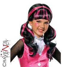 Girls Draculaura Wig Official Monster High Child Halloween Fancy Dress New