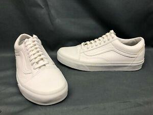 Vans Women's Old Skool Casual Sneakers Canvas White Size 9 DISPLAY MODEL!