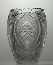 ANTIQUE RARE BOHEMIA/BOHEMIAN CUT GLASS LEAD CRYSTAL VASE