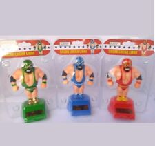 Solar Power Dancing Toys Mexican Lucha Dragons Wrestlers Complete Set Of 3 NWT