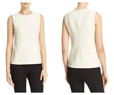 Theory Womens Ivory Hadrienne PIoneer Seam Detail Sleeveless Top 00 $265