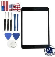 Touch Screen Glass Digitizer Replacement+IC+Home Button Black For iPad Mini 1 2