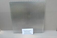 """ALUMUINUM PERFORATED METAL  1/2 HOLES ON 11/16 CETNTERS----24"""" X 24""""--.063THICK"""