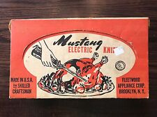 Vintage 60s Mustang Electric Slicing Knife Fleetwood Appliance Corp. Brooklyn Ny