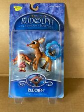 2003 Memory Lane Rudolph the Red Nosed Reindeer Figure w/Light Up Nose Tree NEW