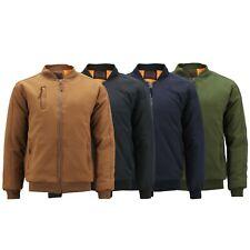 Men's Multi Pocket Water Resistant Industrial Uniform Quilted Bomber Work Jacket
