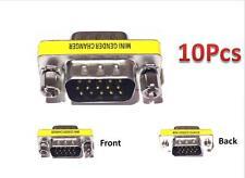 10pcs 15 HD/DB/15 VGA/SVGA KVM Gender Changer Adapter Male to Male M-M US Seller