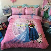 Frozen Sister Single/Queen/King Bed Doona Quilt Duvet Cover Set 100% Cotton