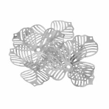 Silver Metal Filigree Flower Beads Caps Spacer Beads for Making