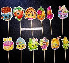 12 X selecciones/Toppers Cupcake Shopkins Pastel Decoraciones Muñeca temporada 6 5 4 8 #dvd567
