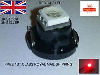 RED T4.7 LED SMD FOR VW GOLF MK4 99-2004 DASH CLOCKS LIGHTS BULBS INTERIOR 12V