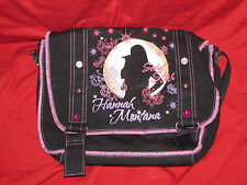 Hannah Montana Secret Star Shoulder Bag Black Canvas 10x14 good for tablet