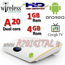 MEDIA PLAYER ANDROID BOX OEM A20 FULL HD MEDIA PLAYER WIFI LAN TV SMART LESER