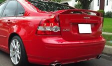 For Volvo S40 Rear Boot Trunk Spoiler SPORT look Lip Wing Trim Lid Tuning MK2