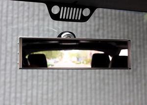 Axia Alloys Aluminum Jeep Wrangler TJ JK JKU Rearview Mirror - BILLET SILVER