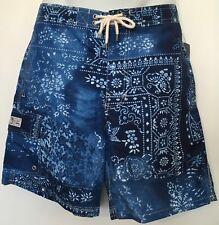 "Polo Ralph Lauren Kailua Swimtrunks Blue Moroccan Tile 8 1/2"" Inseam Size M"