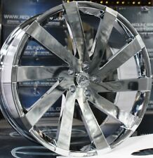 "24"" INCH GIMA 6 CHR RIMS AND TIRES CHALLENGER CHARGER MAGNUM CHRYSLER 300 5X115"