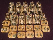 flames of war long range desert group LRDG soldiers & vehicles 15mm pro painted
