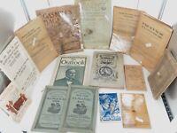 .AMERICANA JOB LOT 1800s / EARLY 1900s EPHEMERA, BOOKLETS ETC. GOOD RESALE $ #1