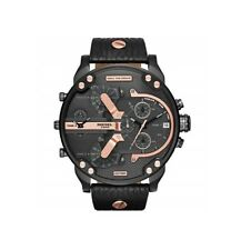 DZ7350 New Genuine DIESEL Mr Daddy 2.0 Black Multi Time Zone Watch RRP £329