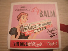 Mad belleza vintage Kellogg's English Rose bálsamo De Labios Brillo Perfecto Regalo.