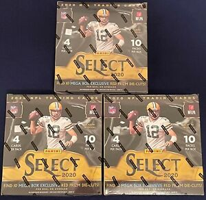 Denver Broncos 2020 Panini Select Football NFL 3 Mega Box BREAK #178