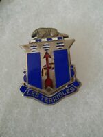 Authentic WWII US Army 127th Infantry Regiment DI DUI Crest Insignia