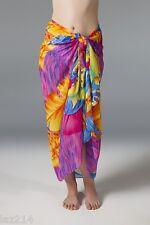 Sarong Pareo Cover-Up Wrap in Bright Hawaiian Print
